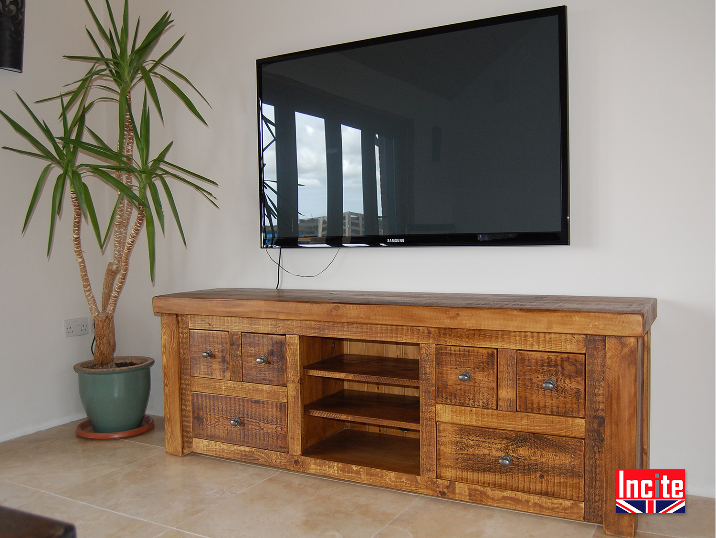 Plank Bedroom Furniture Handmade Plank Pine Tv Media Storage Units Derbyshire