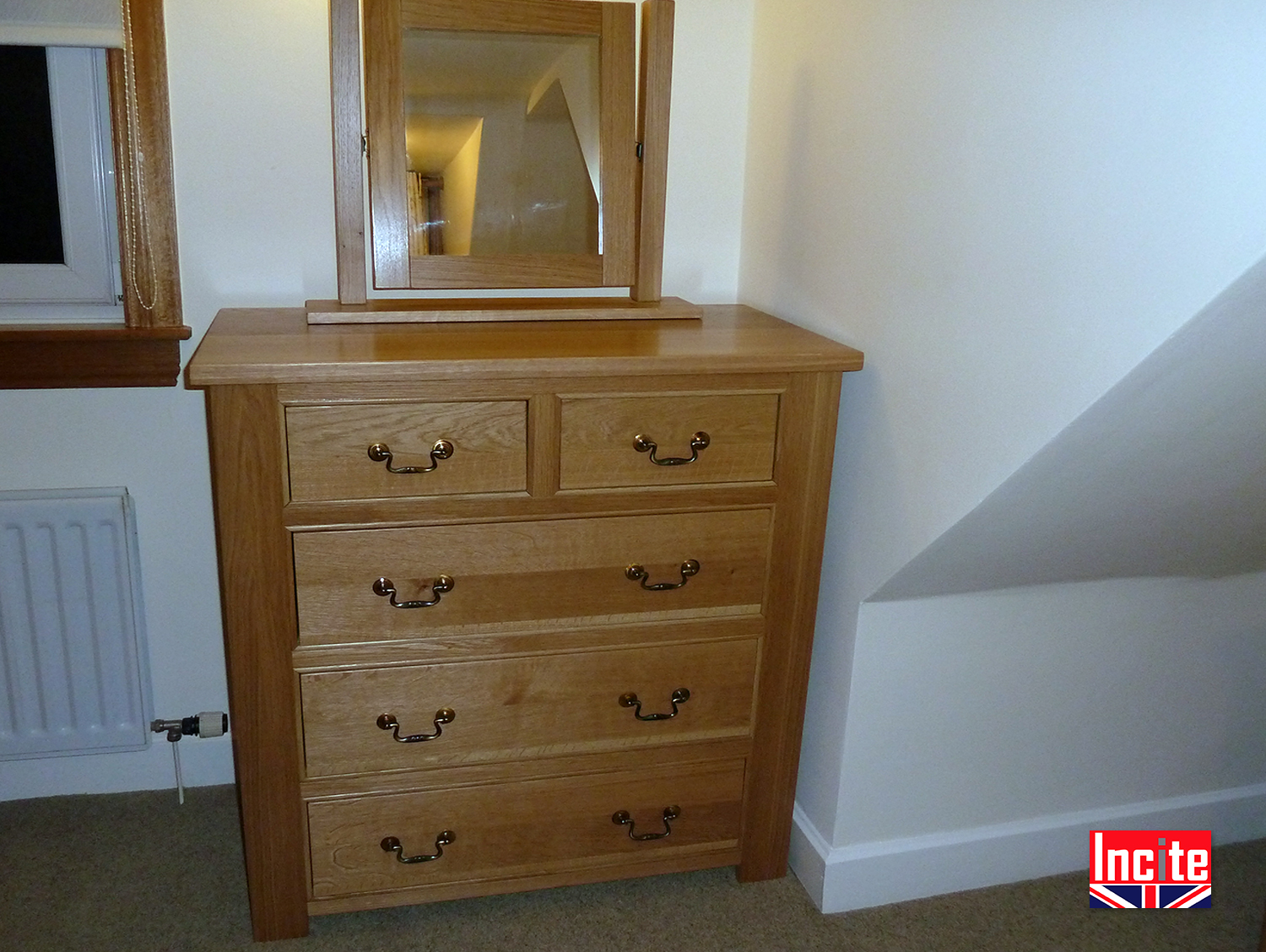 Tailor Made Quality Oak Chest Of Drawers Incite Derby