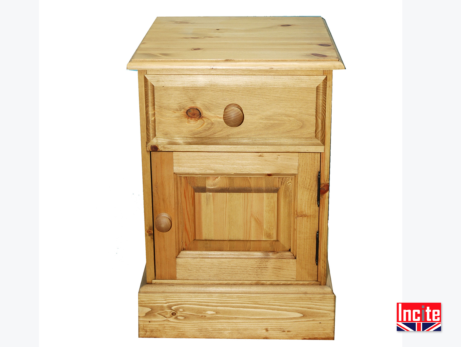 Handmade Solid Pine Pot Cupboard Bedside by Incite Derby