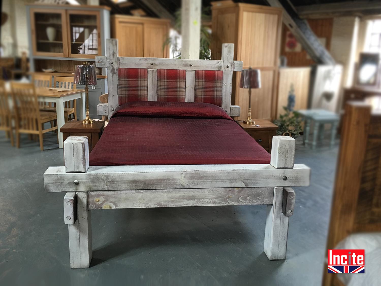 Plank Bedroom Furniture Wooden Plank Pine Beds Handmade Incite Interiors Derby