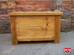 Handmade Rustic Plank Pine Blanket Box By Incite Interiors Derbyshire All Chunky Plank furniture Has 15 Year guarantee. British custom made Oak, Pine, Beech, Walnut And Painted Furniture