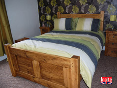 Wooden Beds by Incite Interiors, Emperor panelled bed, Handmade wooden Beds By Incite Interiors Derbyshire, Our British made handcrafted rustic plank furniture is cheaper than Indigo Furniture, Slat bed prices cheaper than Indigo Furniture, Solid Wooden Bedroom Furniture, Draycott, Derby, Chesterfield, Matlock, Alfreton, Belper, Nottingham, Nottinghamshire, Burton On Trent,