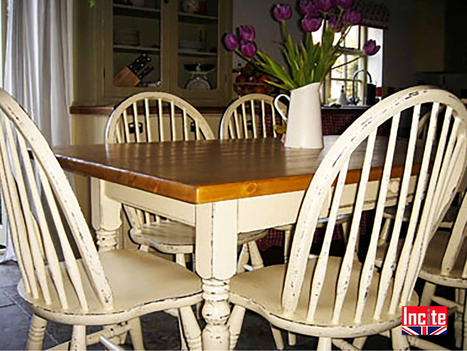 Distressed painted dining tables handmade by incite derby - Painted dining tables distressed ...