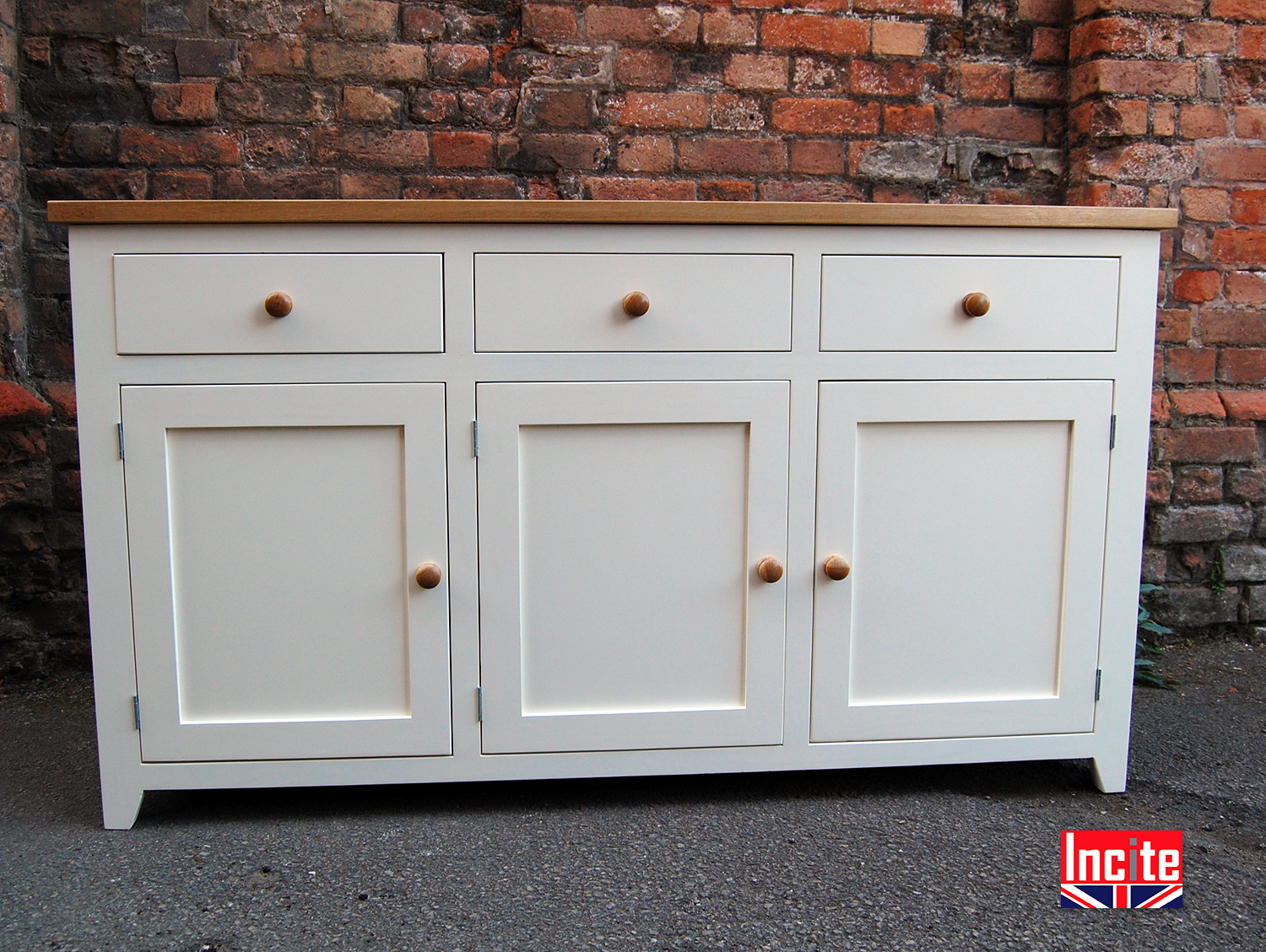 Painted Shaker Sideboards with Solid Oak by Incite Derby