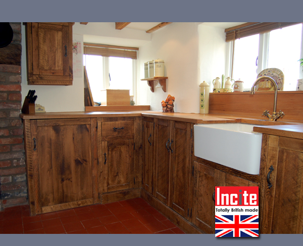 Custom Made Country Rustic Plank Pine And Oak Fitted Kitchen By Incite