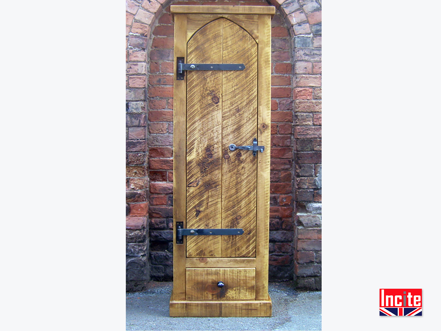 Handcrafted In Derbyshire Plank Pine Gun Cabinet By Incite
