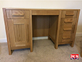 Handmade Oak Double Pedestal Desk