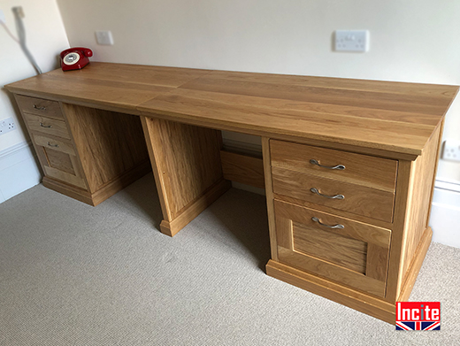 Derbyshire Made Oak Home Office Furniture `