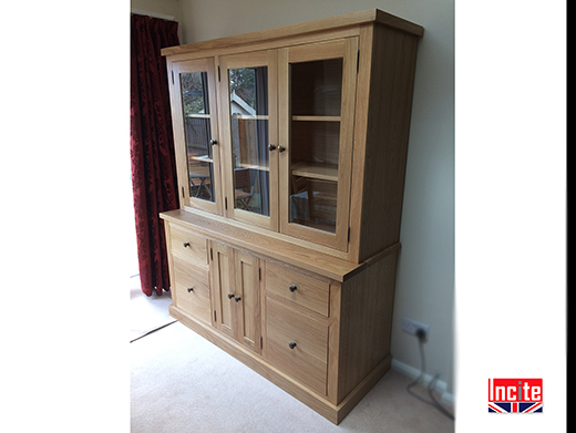 Handcrafted Oak Glazed Dresser