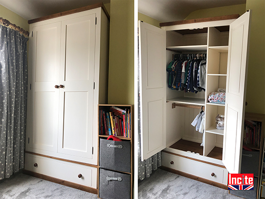 Painted Baby Wardrobe Made In Derbyshire