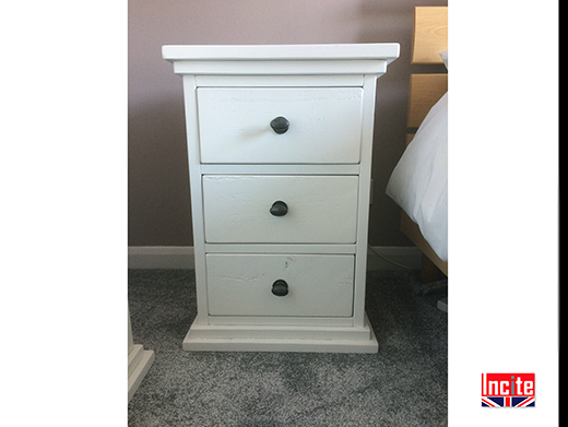 Painted Solid Wooden Bedside Cabinet
