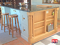 Custom Made French Gray Painted Oak Kitchen Island