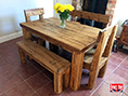 Plank Solid Pine Dining Table