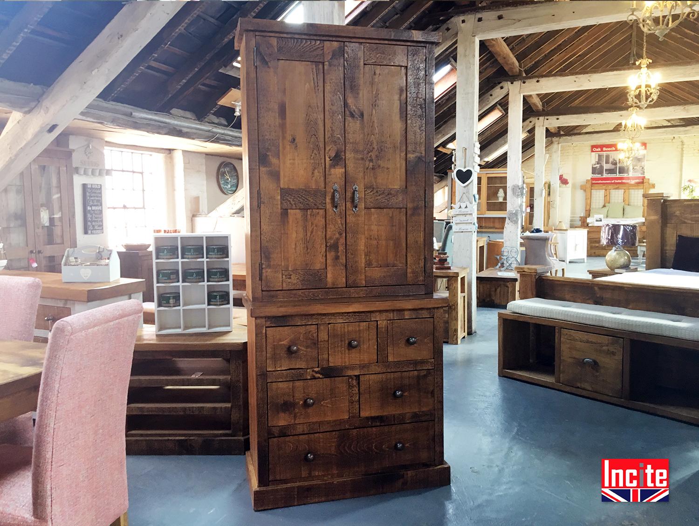Plank Pine Larder Cupboard Handmade By Incite