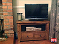 Rustic Plank Pine TV Unit