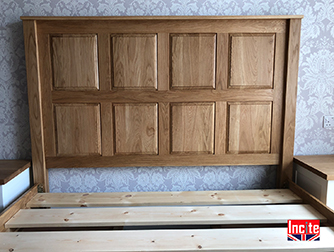 Bespoke Oak Panelled Headboard