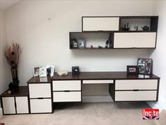 Handmade Home Office Suspended Wall Cabinets
