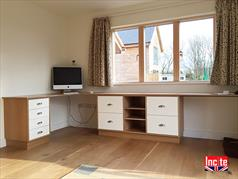 Fitted Oak and Painted Home Office Suite