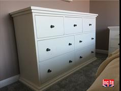 Painted Grande Rustic Chest of Drawers
