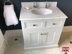 Custom Made Painted Oak Bathroom Sink Unit