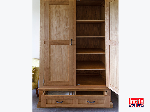 Oiled Oak Combination Wardrobe