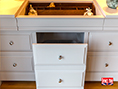 Bespoke Oak and Painted Dressing Chest