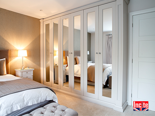 Painted Fitted Mirrored Door Wardrobe