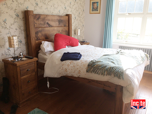 Chunky Rustic Solid Pine Bed
