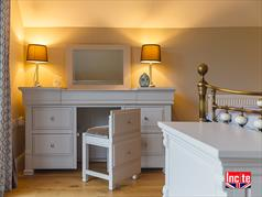 Bespoke Oak and Painted Dressing Table Chest
