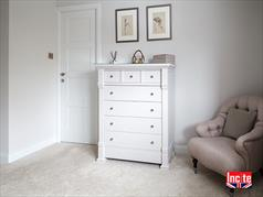 Painted Georgian Style Chest Of Drawers