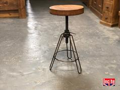 Vintage Hair Pine Industrial Stool