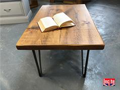 Vintage Hair Pine Industrial Coffee Table