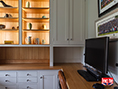 Custom Handcrafted Painted Oak Fitted Home Office Furniture