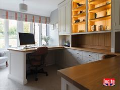 Bespoke Painted Oak Fitted Home Office Furniture