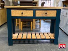 Solid Oak and Painted Console Table