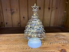 Glass Christmas Tree with Silver Internal Decoration