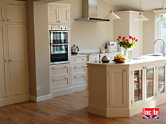 Bespoke Painted Wooden Kitchen,Painted Kitchen, Shaker Style Painted Kitchen,Tailor Made Oak Kitchen Painted Two-tone Made to order by Incite Interiors, Handmade Wooden Kitchen, Painted Wooden Kitchens,