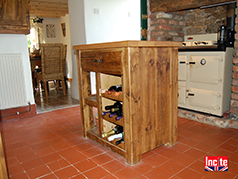 country rustic freestanding kitchen unit handmade by Incite Interiors Derbyshire