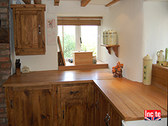 Rustic Pine And Oak Belfast Sink Unit And Pantry Door In A Beautiful Derbyshire Cottage By Incite Interiors