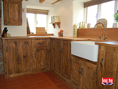 Country Rustic Pine And Oak Fitted Kitchen
