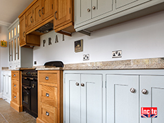 Custom Handmade Oak and Painted Mix Kitchen handmade to order in Draycott Derbyshire