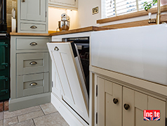 Custom Handmade painted kitchen by Incite Interiors Derbyshire