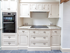 Custom Made Hand Painted Oak Kitchen, Pointing and Mizzle Painted Kitchen