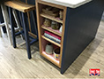 Handcrafted Oak Painted Kitchen Island