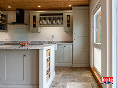 Oak Painted Handmade Kitchen by Incite Interiors Derbyshire