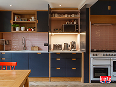 On Trend Painted and Oak Bespoke Kitchen by Incite Interiors Derbyshire