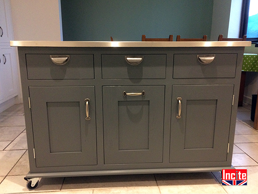 Painted Farrow & Ball Colour Kitchen Island