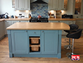 Farrow & Ball Cook's Blue Painted Kitchen Island