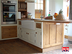 Solid Oak Work Surface With Draining