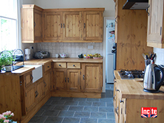 Derbyshire Custom Handmade Bespoke Rustic Pine Fitted Kitchen By Incite Interiors Experts In Oak, Walnut, Beech, Rustic Pine, Plank Pine, Pine And Painted Fitted Kitchens And Solid Wooden Kitchen Furniture